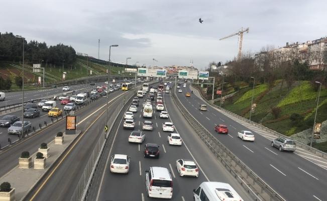 Haliç'te trafiği kilitleyen kaza