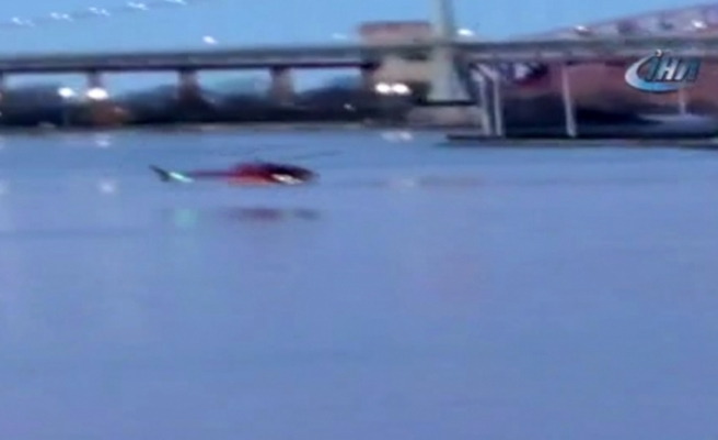 Helikopter denize düştü: 5 ölü