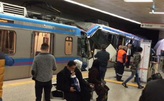 İstanbul'da tramvaylar çarpıştı: 1 yaralı
