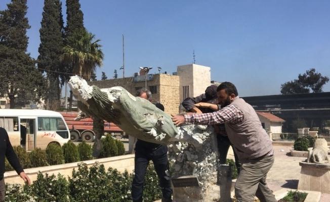 Kawa heykelleri bir bir yıkılıyor
