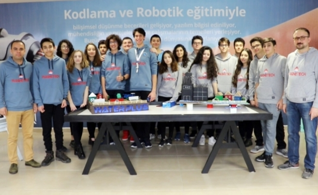 Liselilerden su tasarrufu yapan robot ve uygulama