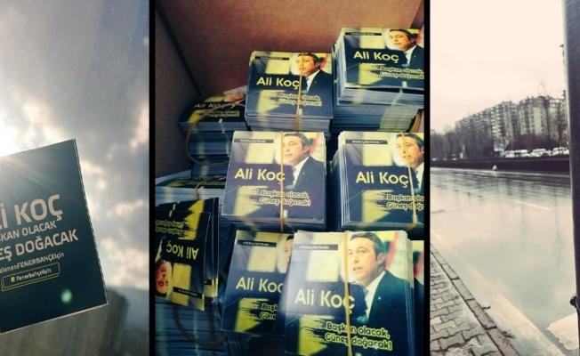 Taraftarlardan Ali Koç'a destek