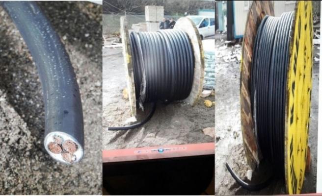 500 bin TL değerinde kablo çalan çete çökertildi