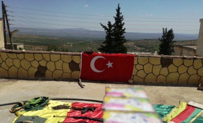 Afrin'de mühimmat ve örgütsel doküman ele geçirildi