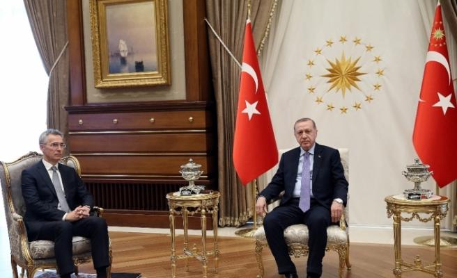Cumhurbaşkanı Erdoğan ile Stoltenberg Suriye'yi görüştü