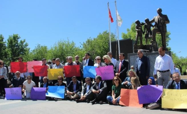 Diyarbakır'daki CHP eylemine HDP'den de destek