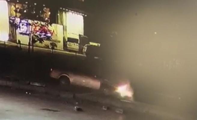 Emniyet Müdür Yardımcısının hayatını kaybettiği kaza kamerada