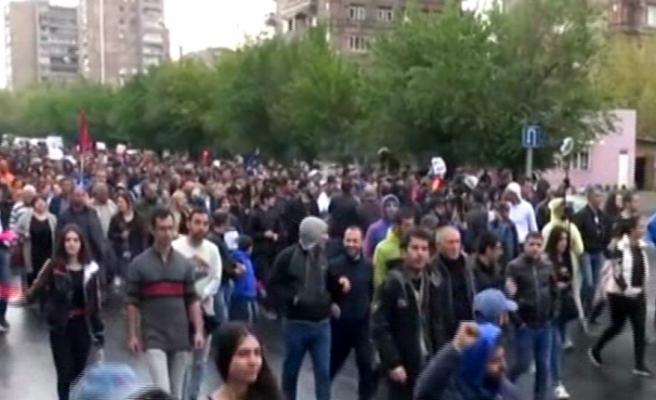 Ermenistan'da 217 kişi gözaltına alındı