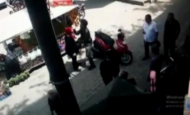 Hamile kadını böyle dövdü