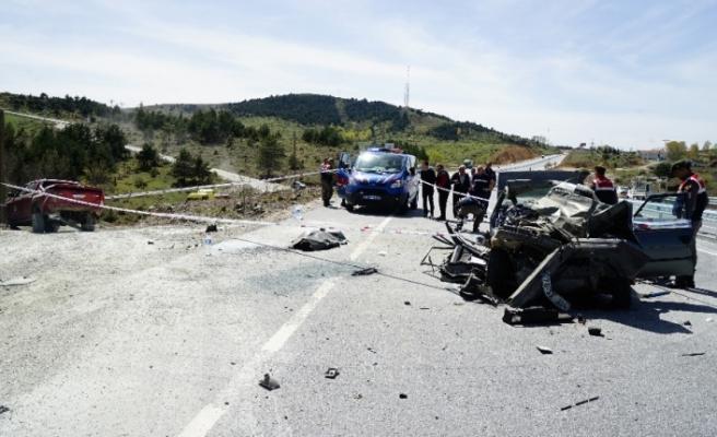 Kastamonu'da feci kaza: 1 ölü, 4 yaralı