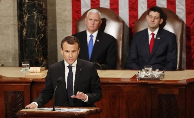 """Macron'dan ABD açıklaması: """"Yeniden katılacağına inanıyorum"""""""