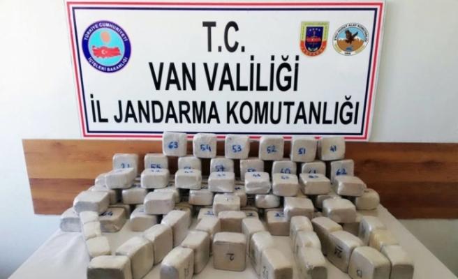 Sınır hattında 50 kilo eroin ele geçirildi