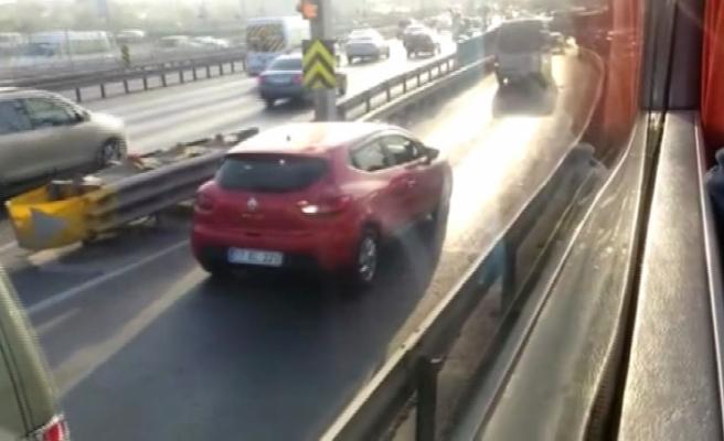 Uyanık sürücüler trafiği birbirine kattı