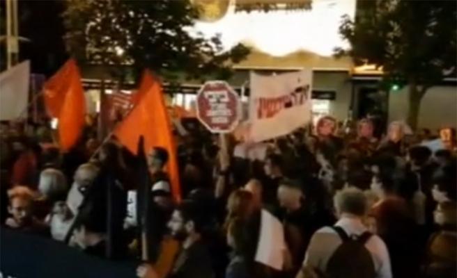 Tel Aviv'de Gazze'deki katliam protesto edildi