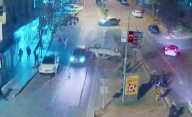 5 kişinin yaralandığı kaza kamerada