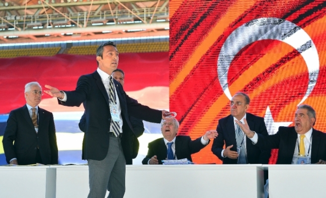Ali Koç'un konuşması sırasında gerginlik yaşandı