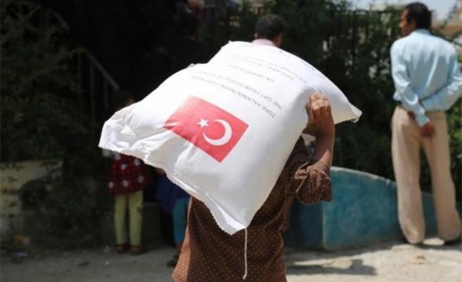 Dünyada yapılan insani yardımın üçte biri Türkiye'den