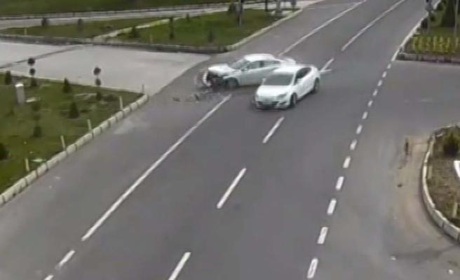 Kaza anları kameraya yansıdı