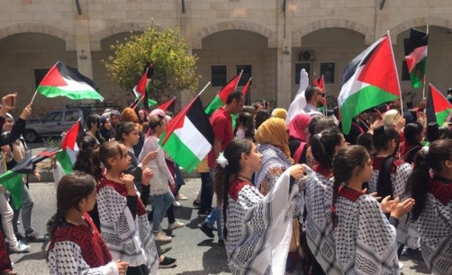 El Halil'de 'Filistin Kıyafet Günü' kutlandı