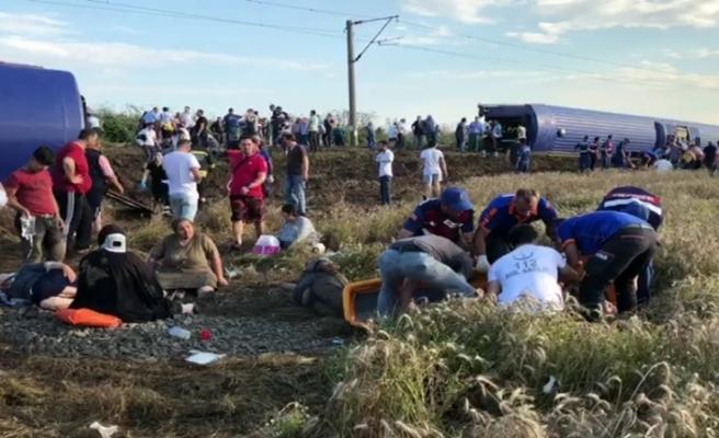 Tekirdağ'da tren faciası: 10 ölü, 73 yaralı