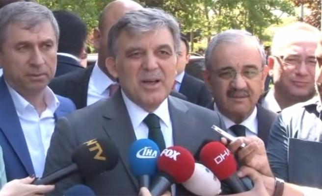 Abdullah Gül'den ABD'ye eleştiri