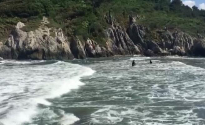 Babasıyla denize giren 10 yaşındaki çocuk boğuldu