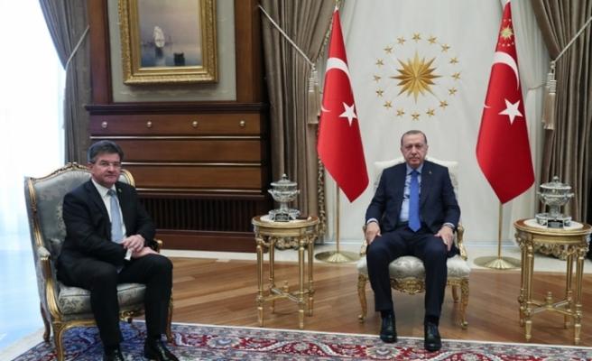 Erdoğan BM Genel Kurul Başkanını kabul etti