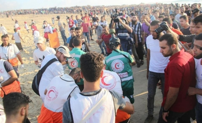 İsrail 95 Filistinli'yi yaraladı