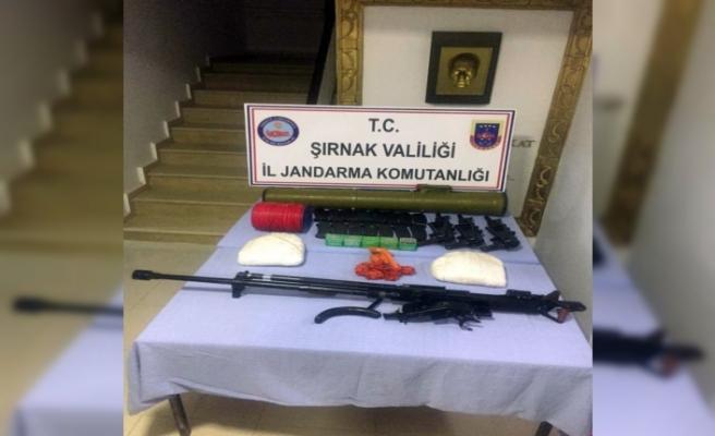 Silopi'de PKK'lı teröristlere ait mühimmatı ele geçirildi