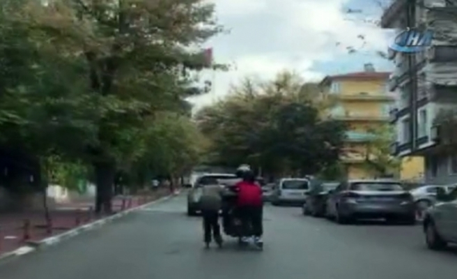 Trafikte patenle tehlikeli yolculuk