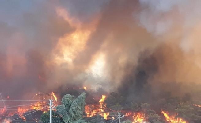 Yangının dehşeti fotoğraflara yansıdı