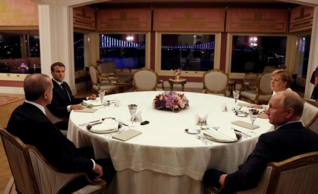 4'lü Suriye Zirvesi'nin ardından liderler birlikte yemek yedi