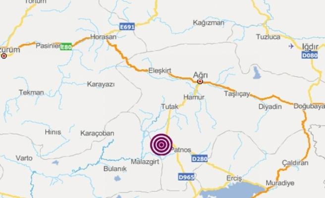 Ağrı'da 4.2 büyüklüğünde deprem