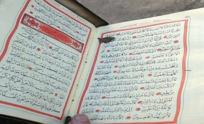 Çıkan yangında sadece Kur'an-ı Kerim zarar görmedi