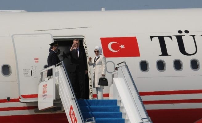 Cumhurbaşkanı Erdoğan Moldova'ya gitti