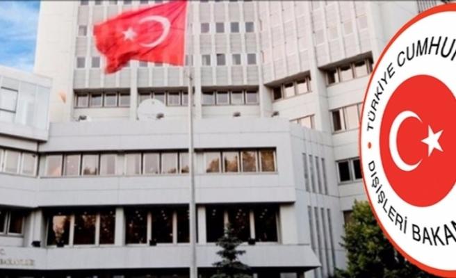 Dışişleri Bakanlığından Yunanistan'a kınama