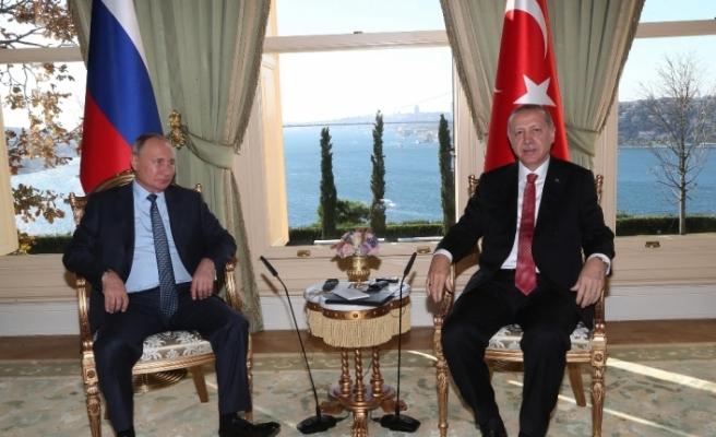 Erdoğan, Putin ile bir araya geldi
