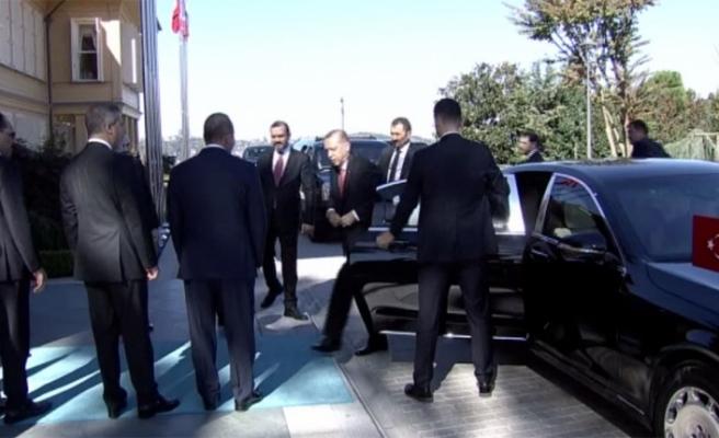 Erdoğan zirvenin yapılacağı köşke geldi