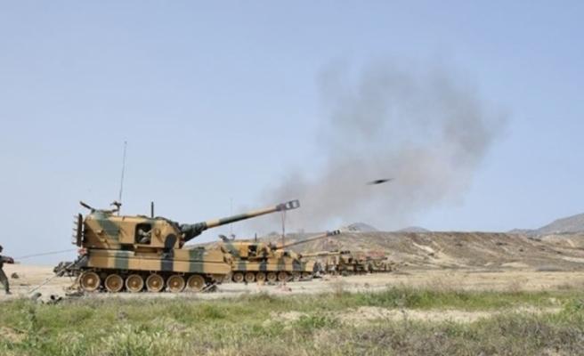 Fırat'ın doğusundaki terör hedefleri vuruluyor