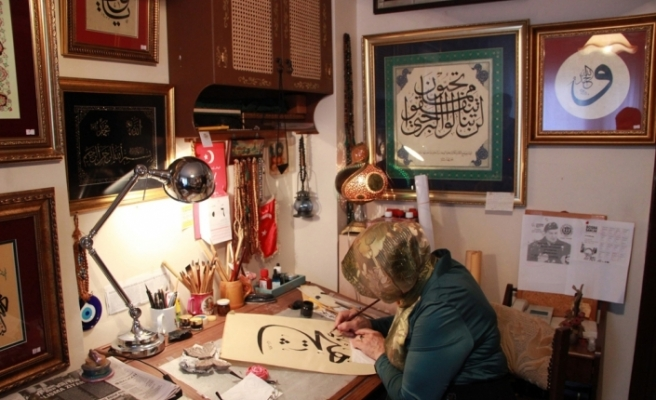 Hat sanatı aşkı ile kanseri yendi