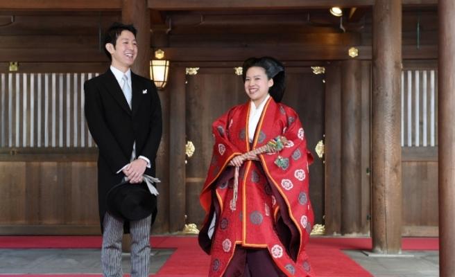 Japon prenses dünya evine girdi