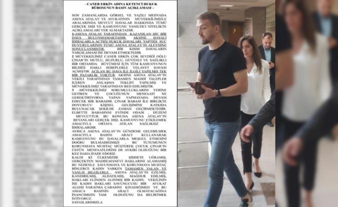 Caner Erkin'den Asena Atalay açıklaması