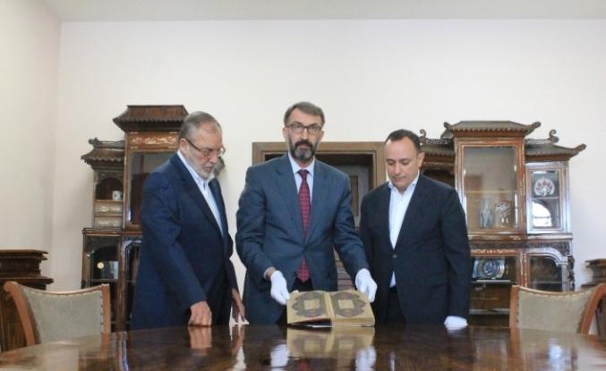 524 yıllık el yazması Kur'an-ı Kerim ait olduğu yere döndü