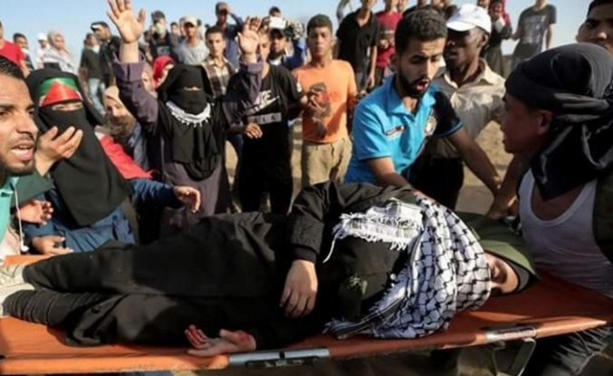 Gazze'deki çatışmalarda dün 206 Filistinli yaralandı