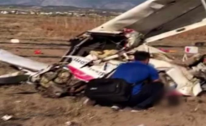 Antalya'da eğitim uçağı düştü: 2 ölü