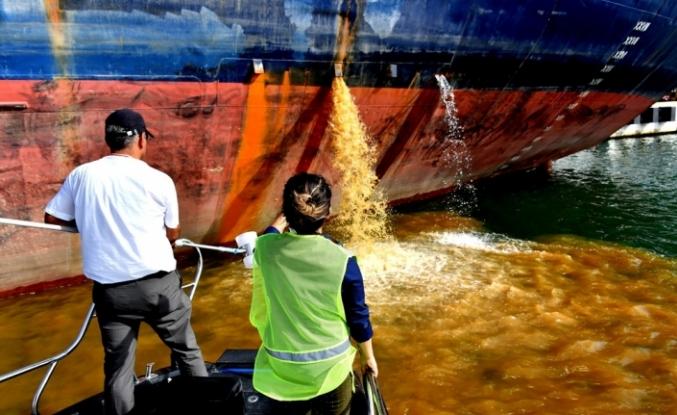 Denizi kirleten 152 gemiye 7 milyon lira ceza kesildi