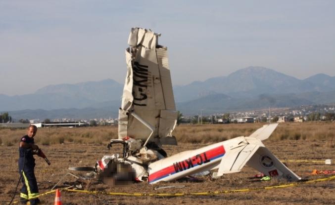 Eğitim uçağı neden düştü ?