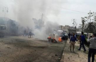 Azez'de patlama: 17 yaralı