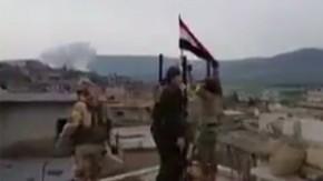 TSK ve ÖSO Raco'ya girdi, Rejim bayrağını indirdi